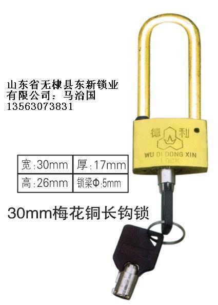 35mm长梁塑钢表箱挂锁,农村改造电表箱专用通开挂锁,一把钥匙开多把锁