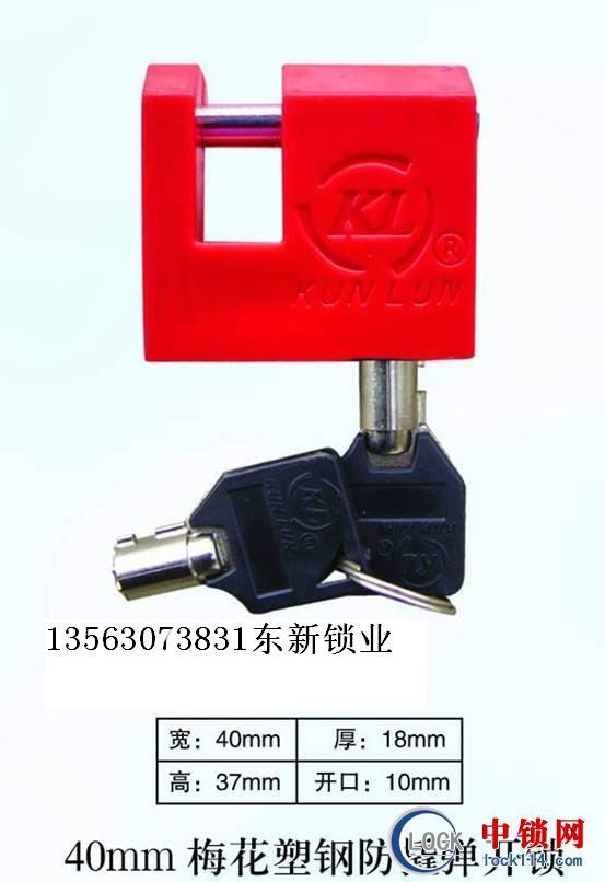 40mm梅花塑钢防撬弹开表箱,塑钢梅花电力表箱锁,塑料防腐挂锁